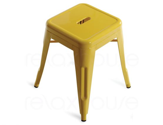 French Yellow Tolix Stool