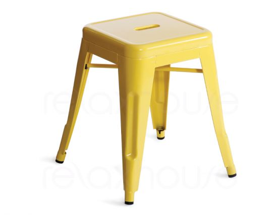Yellow Small Tolix Stool