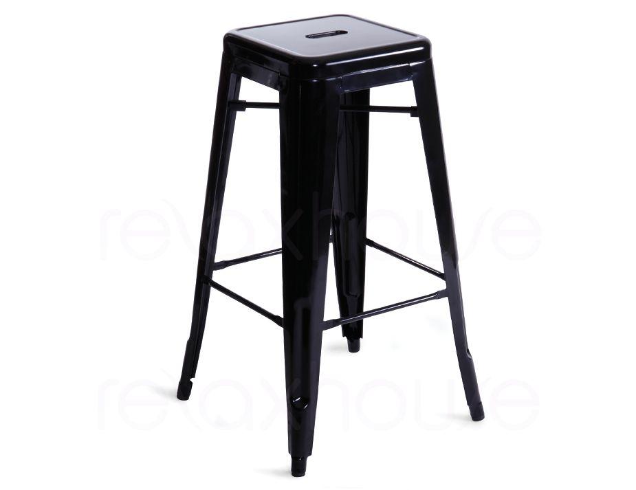 tolix stool black replica french designer stool. Black Bedroom Furniture Sets. Home Design Ideas