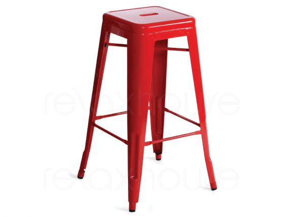 Red 75 Tolix Stool