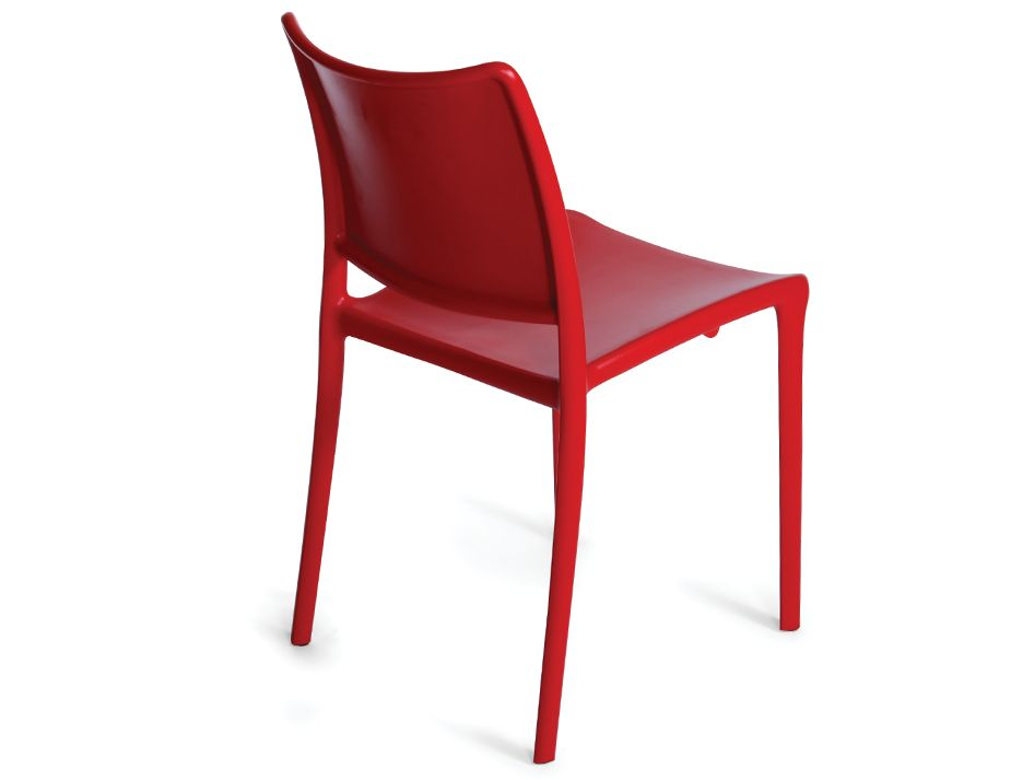 Cafe Chair Outdoor Stacking Chair Red