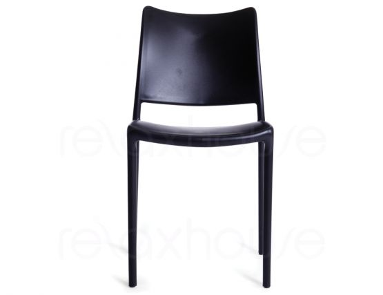 Black Outdoor Chair Front