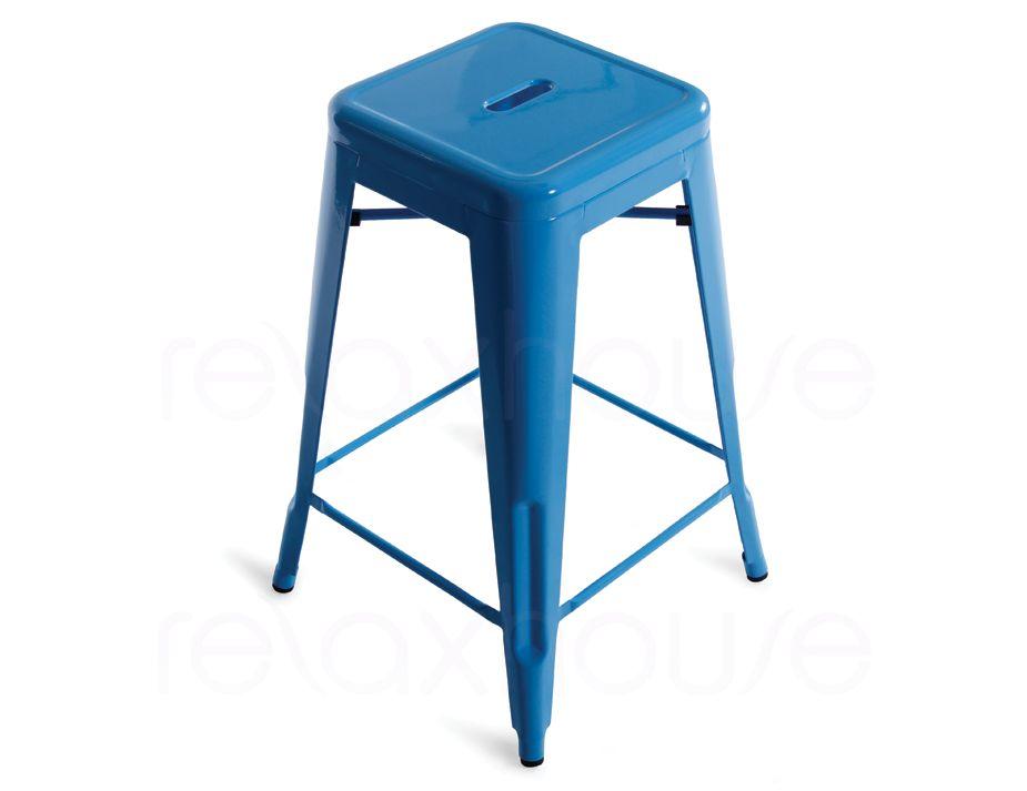 Tolix Stool by Xavier Pauchard 65cm Light Blue : blue stool from www.relaxhouse.com.au size 925 x 713 jpeg 36kB