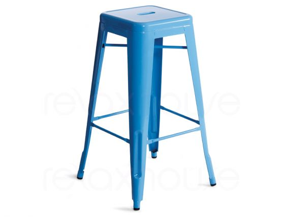 75 Large Blue Tolix Stool