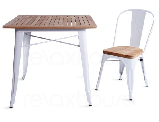 Wood Tolix Table Timber Seat