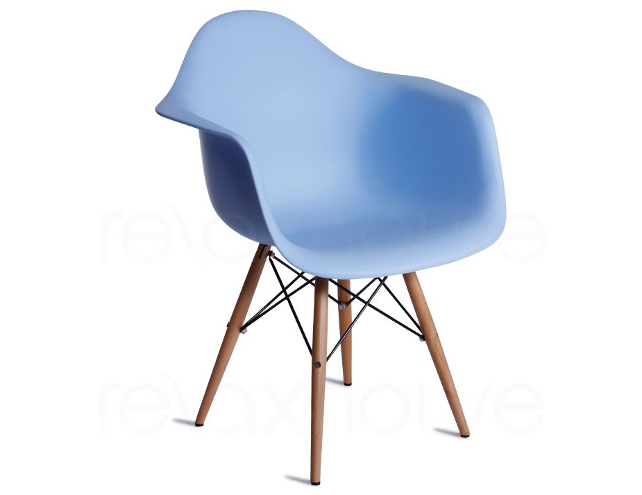 Daw eames arm chair replica in blue for Eames plastic armchair daw replica