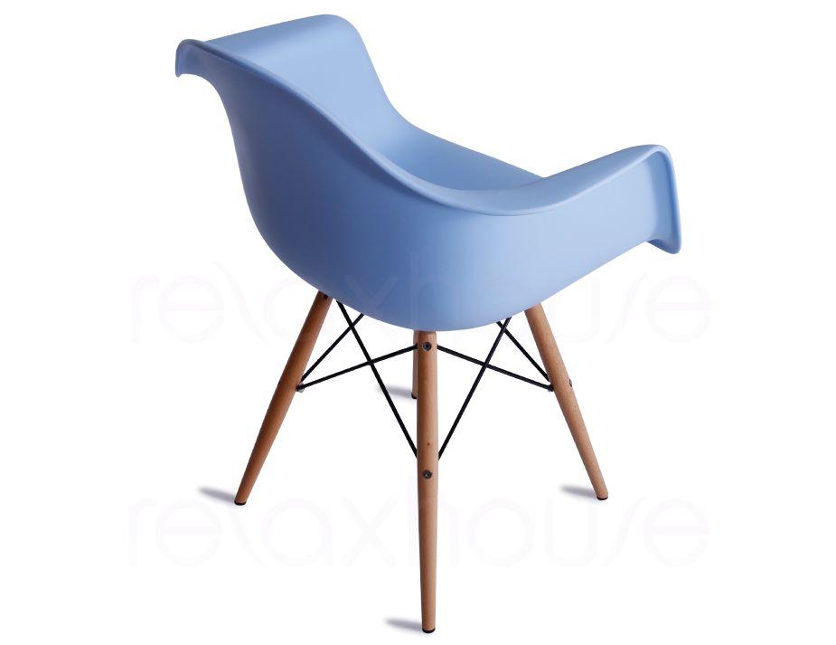 Daw eames arm chair replica in blue for Eames chair daw replica