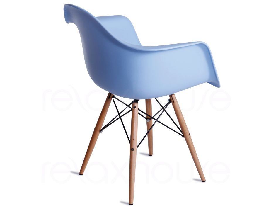 Daw eames arm chair replica in blue - Eames eiffel chair replica ...