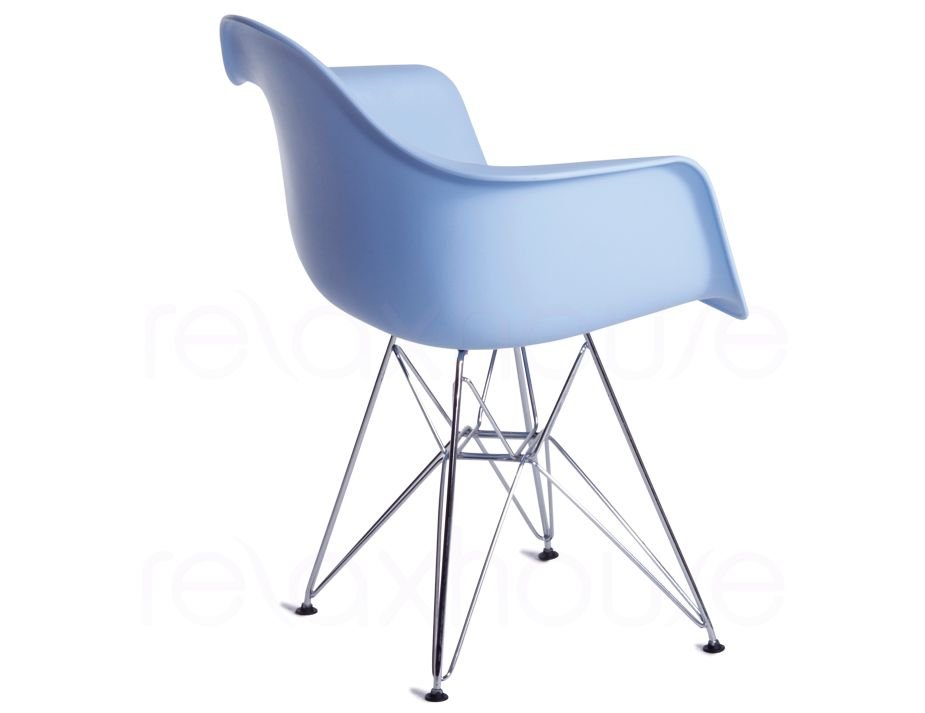 Blue Eames Dar Eiffel Wing Arm Chair