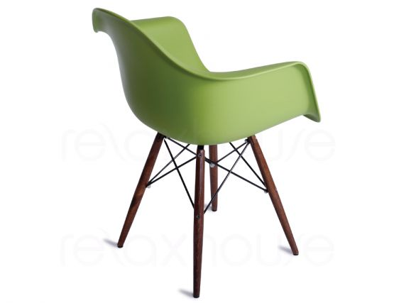 397_charles Eames Green Dining Chair
