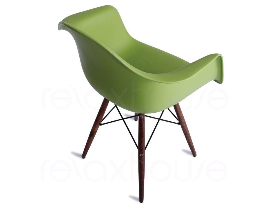 Eames Vintage Green Arm Chair Replica Daw