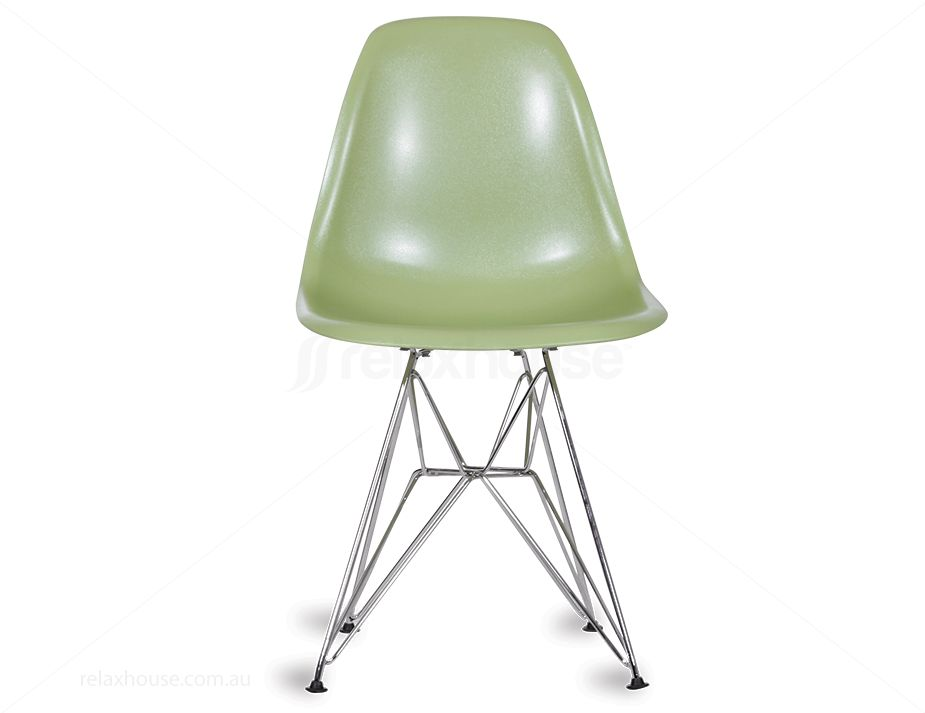 Eames Style Green Dsr Chair Vintage