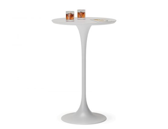 White High Bartable Round