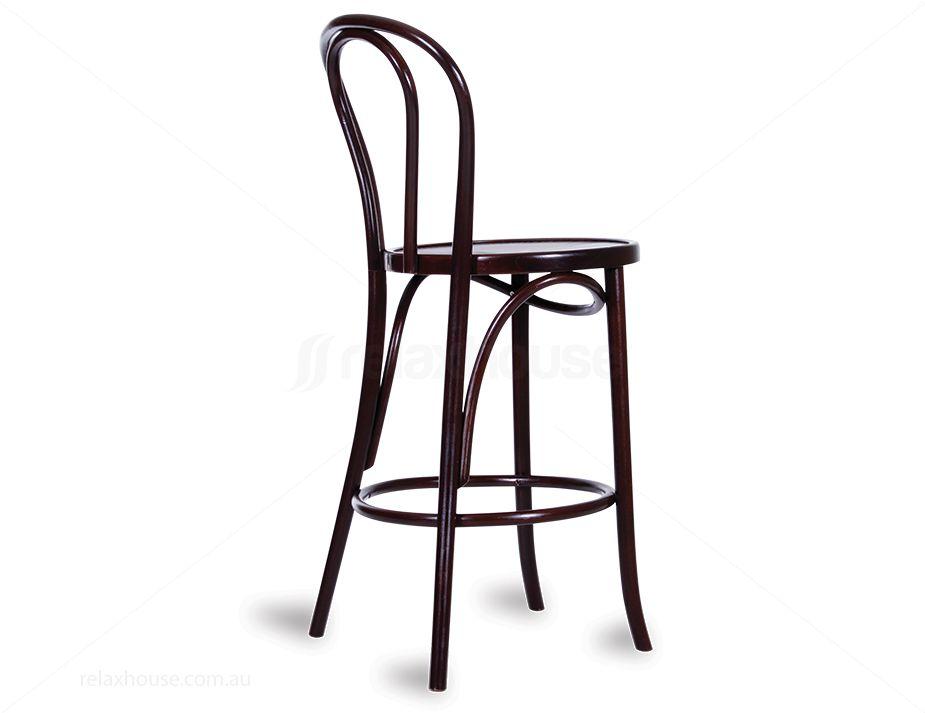 Original European Made Bentwood Vienna Stool Embossed Sunset Seat Michael Thonet Designed Wenge