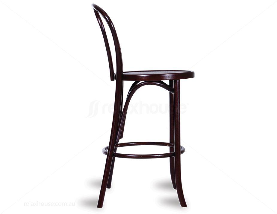Michael Thonet No 18 Bentwood Timber Bar Stool