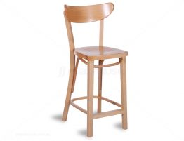Roundback Stool 65cm  Natural