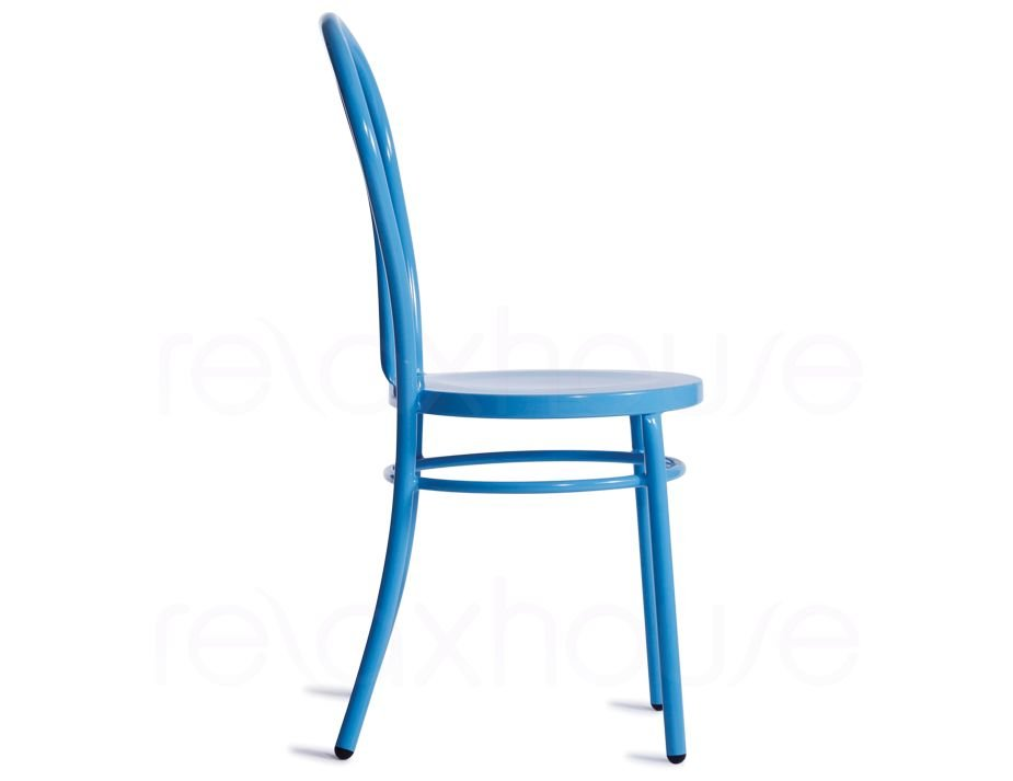 Blue thonet chair bentwood galvanized steel for Thonet replica chair