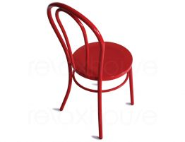 Red Cafe Steel Chair