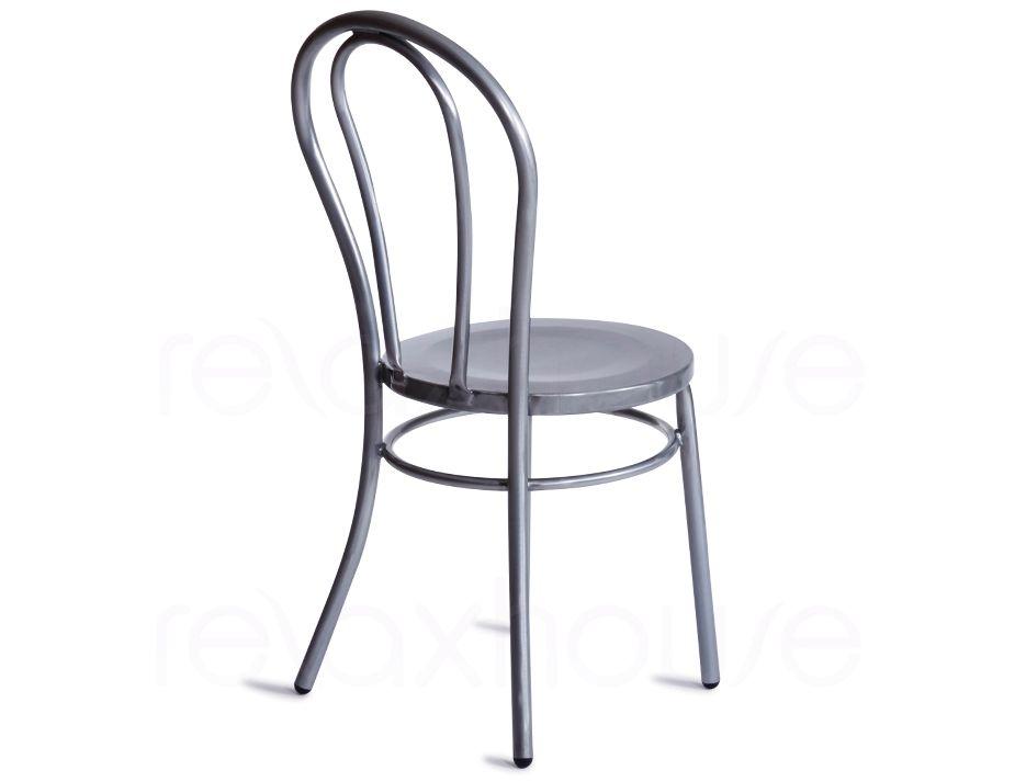... Thonet Vienna Chair Galvanised Silver Galvanised