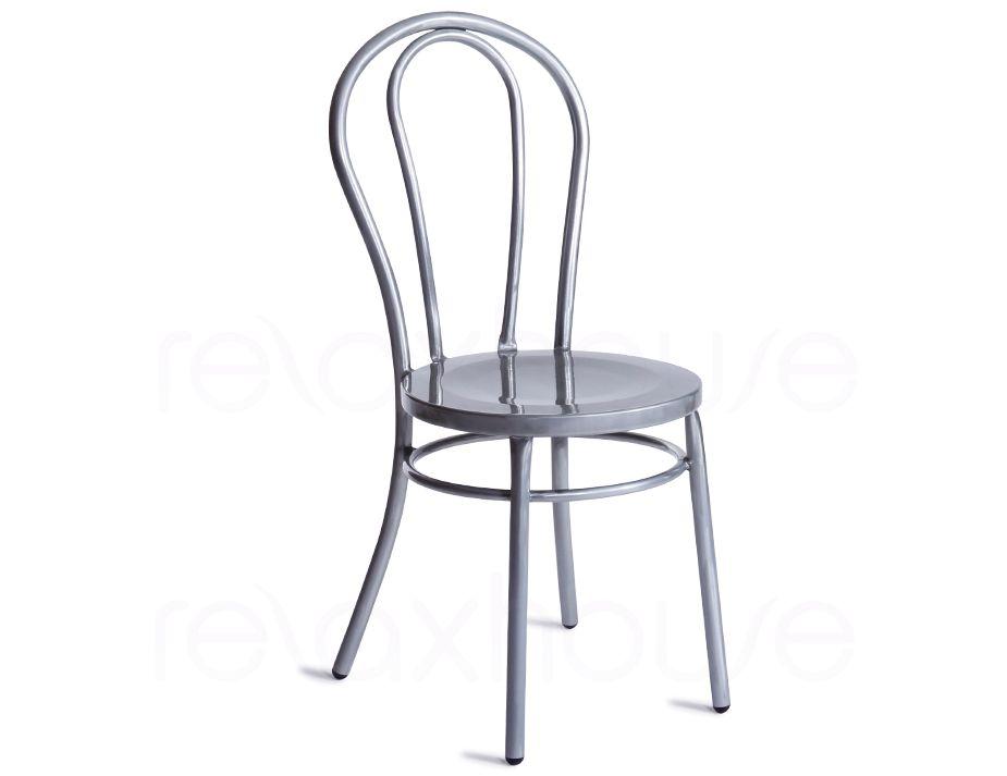 Beau Thonet Vienna Chair Silver Galvanised ...