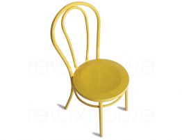 Wood Yellow Chair