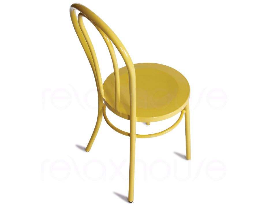 ... Yellow Timber Metal Chair ...