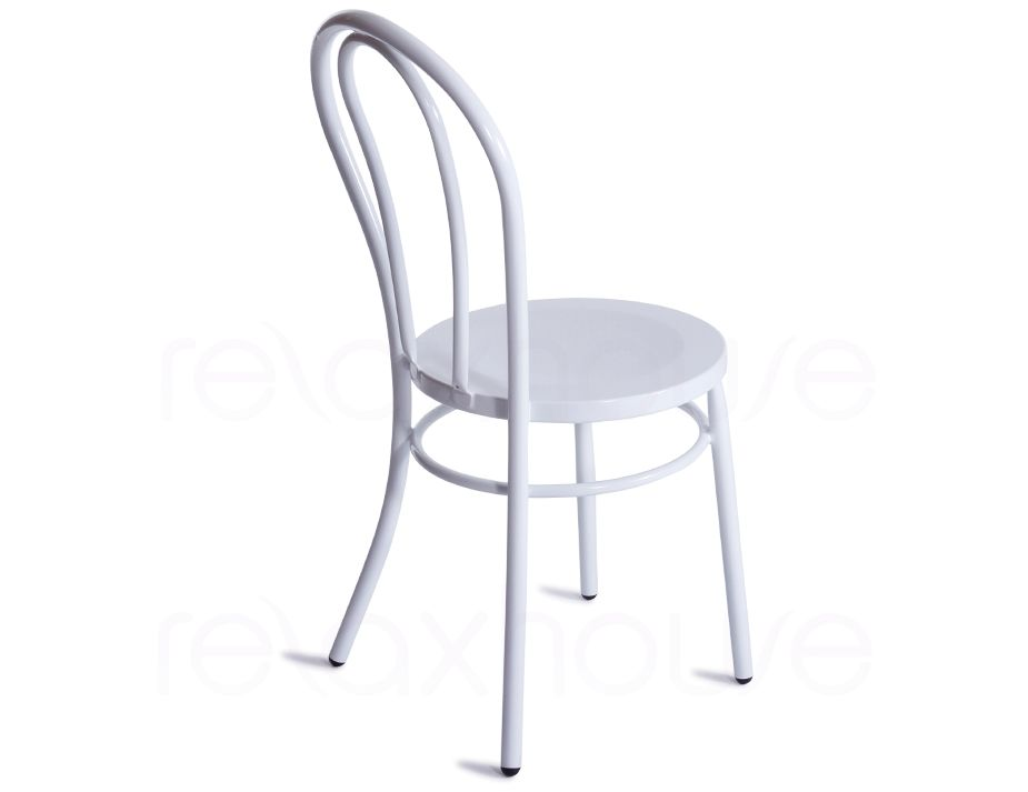 thonet vienna cafe style chair white steel indoor outdoor