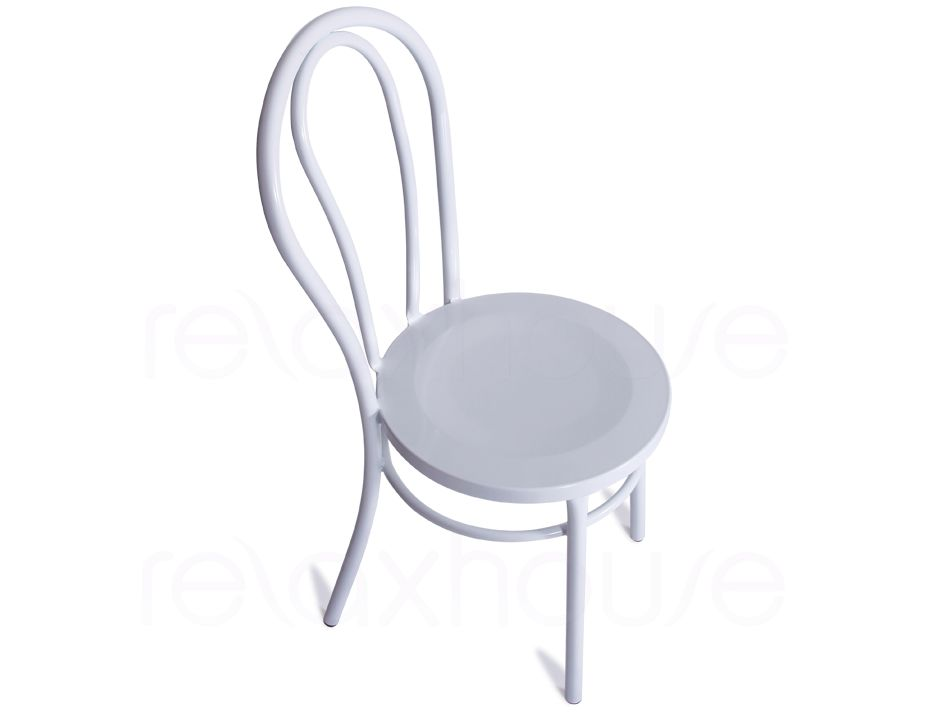 Thonet Vienna Cafe Style Chair White Steel Indoor Outdoor