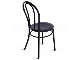 Thonet style retro bentwood steel chair black retro for Thonet replica chair