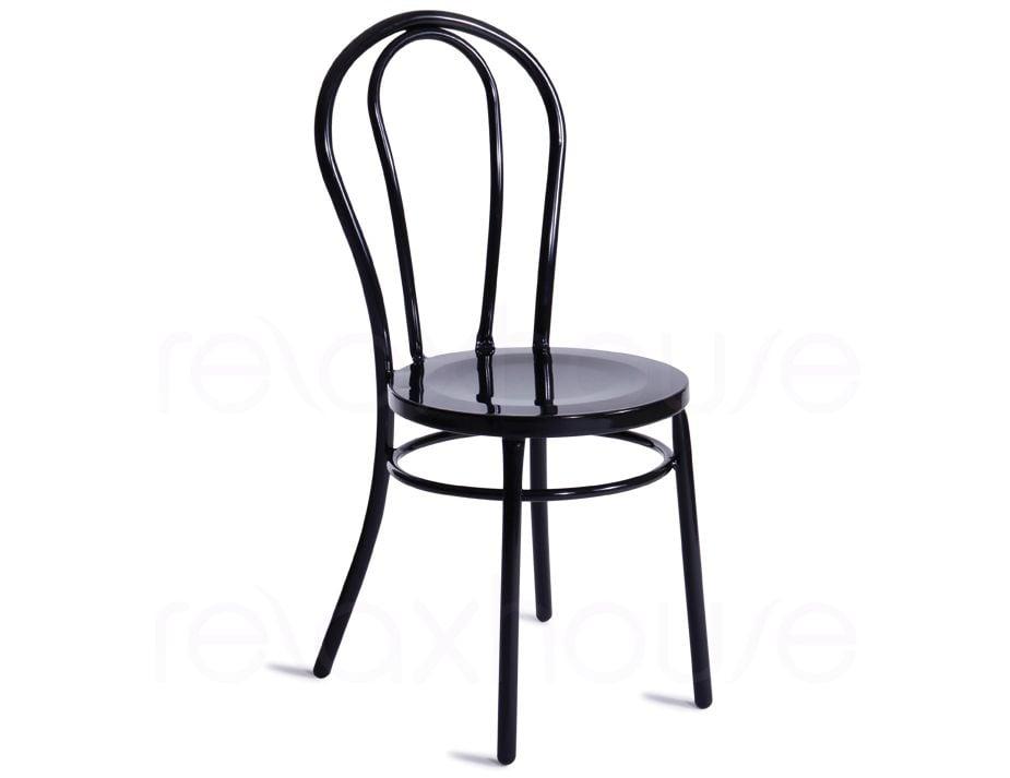 Thonet Style Retro Bentwood Steel Chair Black Retro