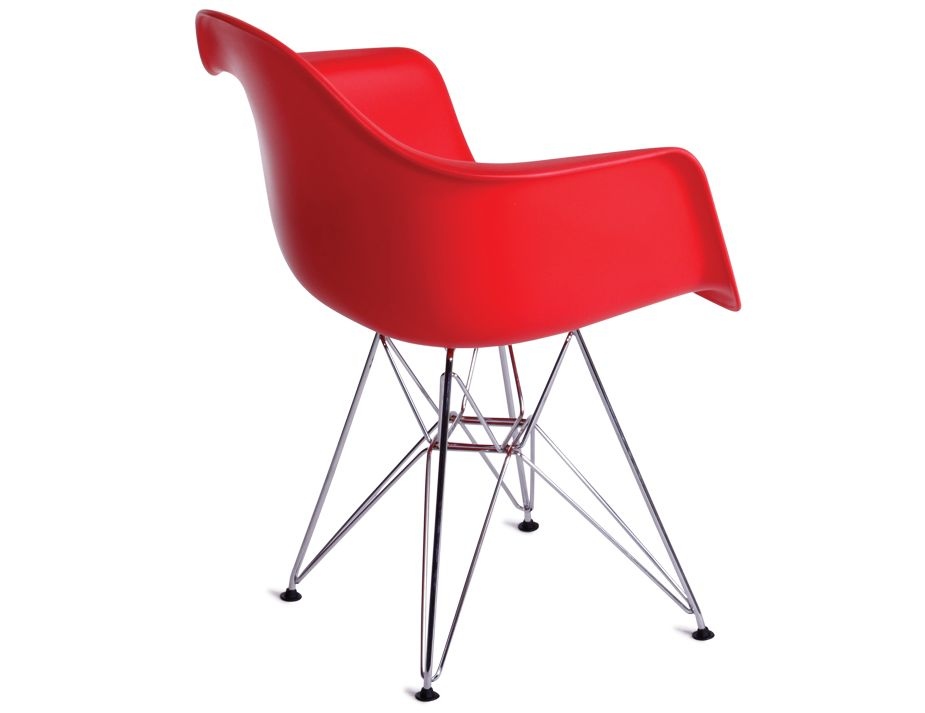 Retro eames dar arm chair replica red for Imitation designer chairs