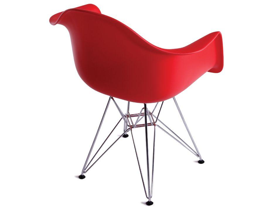 Retro Eames Dar Arm Chair Replica Red