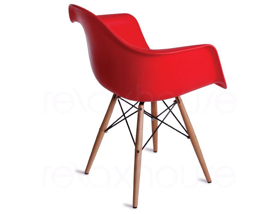 Modern designer red eames daw chair - Designer eames chair ...