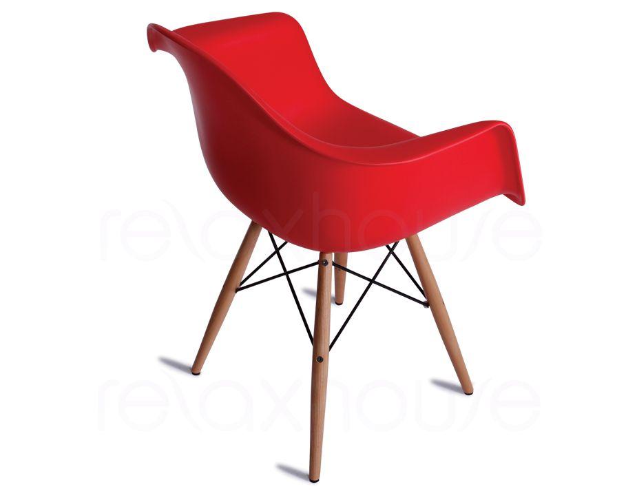 Modern designer red eames daw chair for Eames chair daw replica