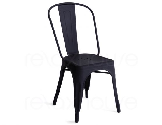 Tolix Chair Gophered Black