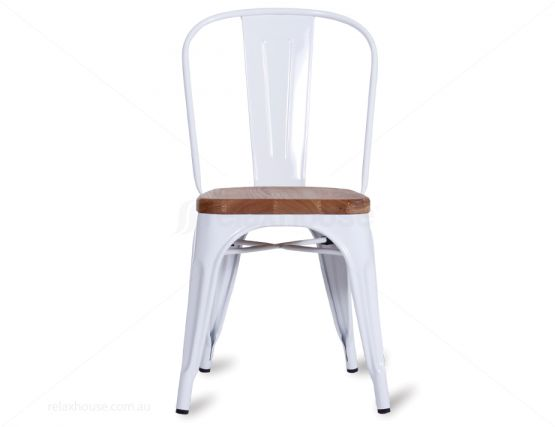 Timber Tolix Chair White