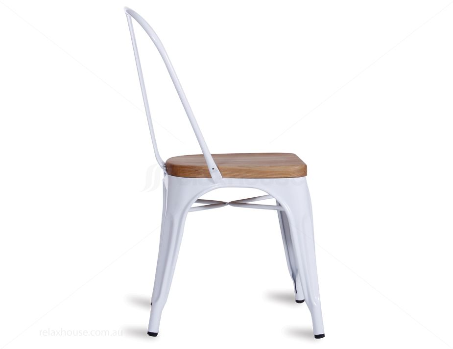 ... White Wood Tolix Chair Cafe Style ...