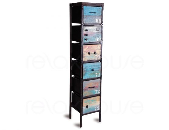 Industrial 6 Draw Cabinet