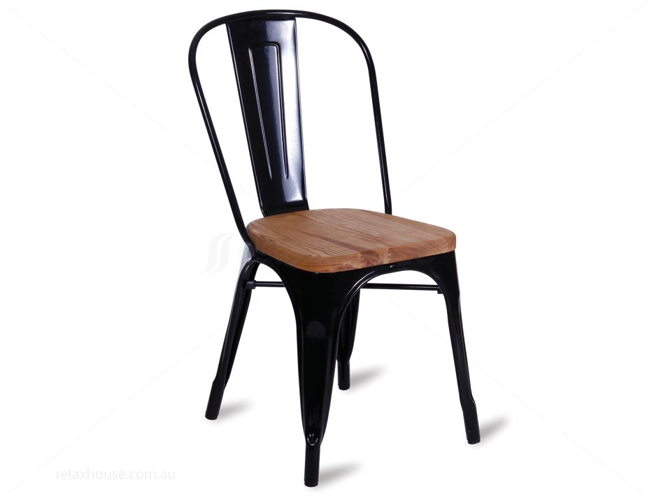 Wooden Tolix Chair in Black : black teak tolix chair from www.relaxhouse.com.au size 925 x 713 jpeg 36kB