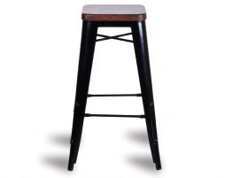 600_retro Black Stool