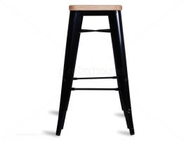Wooden Tall Tolix Stool