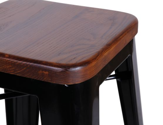 600_black Restaurant Stool