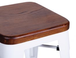 606_stained Wooden Bar Stool