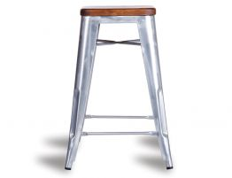 604_silver Tolix Stool