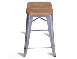 Tolix Wooden Bar Stool