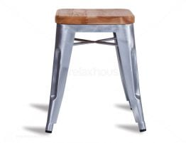 Wood Tolix Stool Small