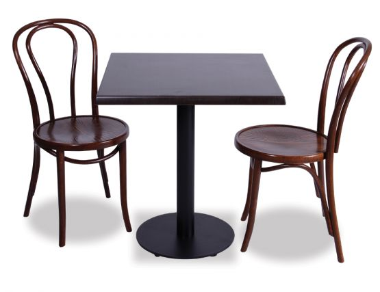 Black Table With Bentwood Chairs