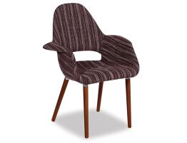 Saarinen-Chair-grey-tweed
