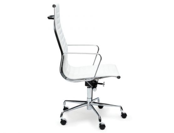 white leather office chair eames executive high back replica