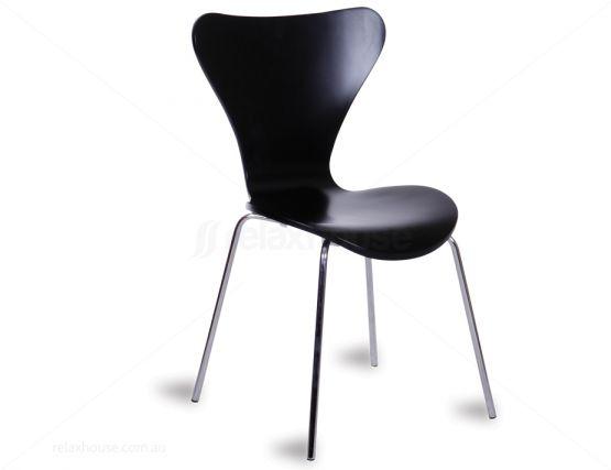Arne Jacobsen Series 7 Chair Replica Black